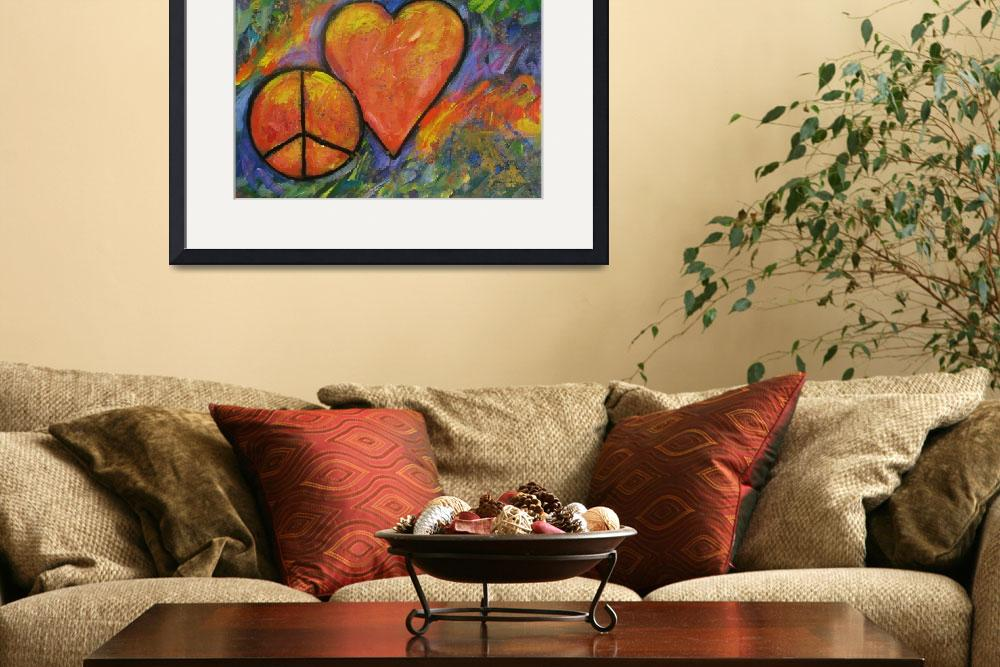 """""""One peace One Heart&quot  (2012) by carolsuzanne"""