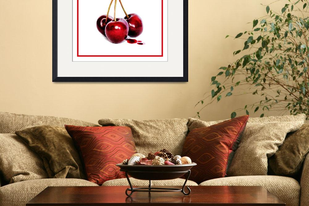 """""""Cherries red border""""  (2010) by chriscoley"""