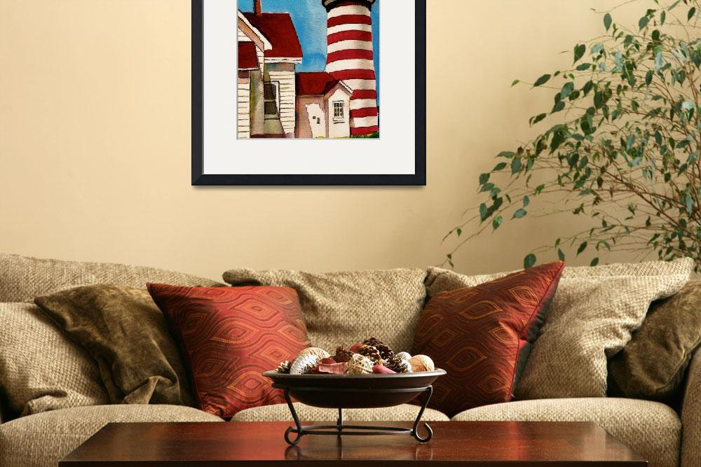 """""""West Quoddy Head Lighthouse&quot  (2005) by Nanwright"""