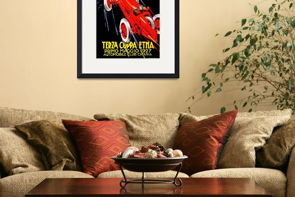 """""""Terza Cuppa Etna Auto Rally Italy 1927 Vintagd Ad""""  by Johnny-Bismark"""