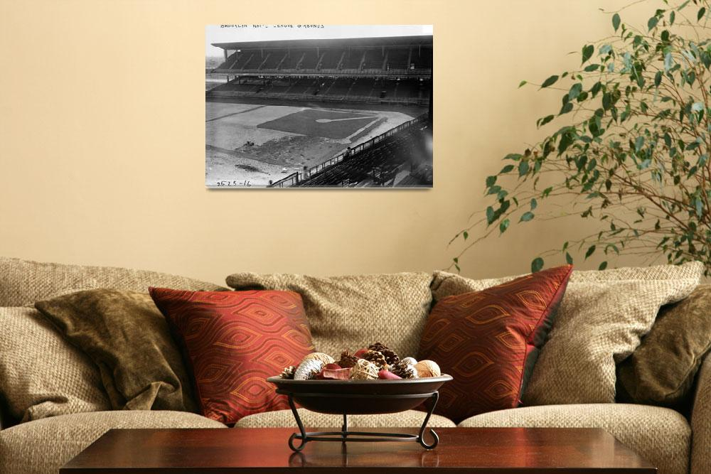 """""""Brooklyn National Grounds Stadium Dodgers&quot  by RetroImagesArchive"""