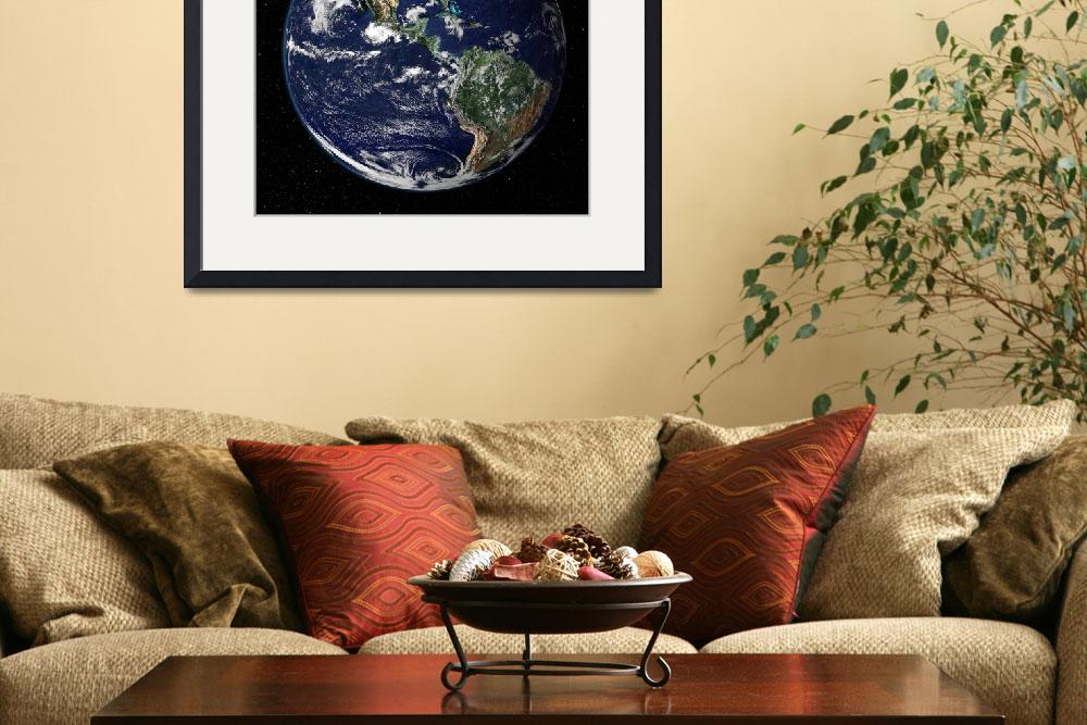 """""""Full Earth showing North and South America.&quot  by stocktrekimages"""