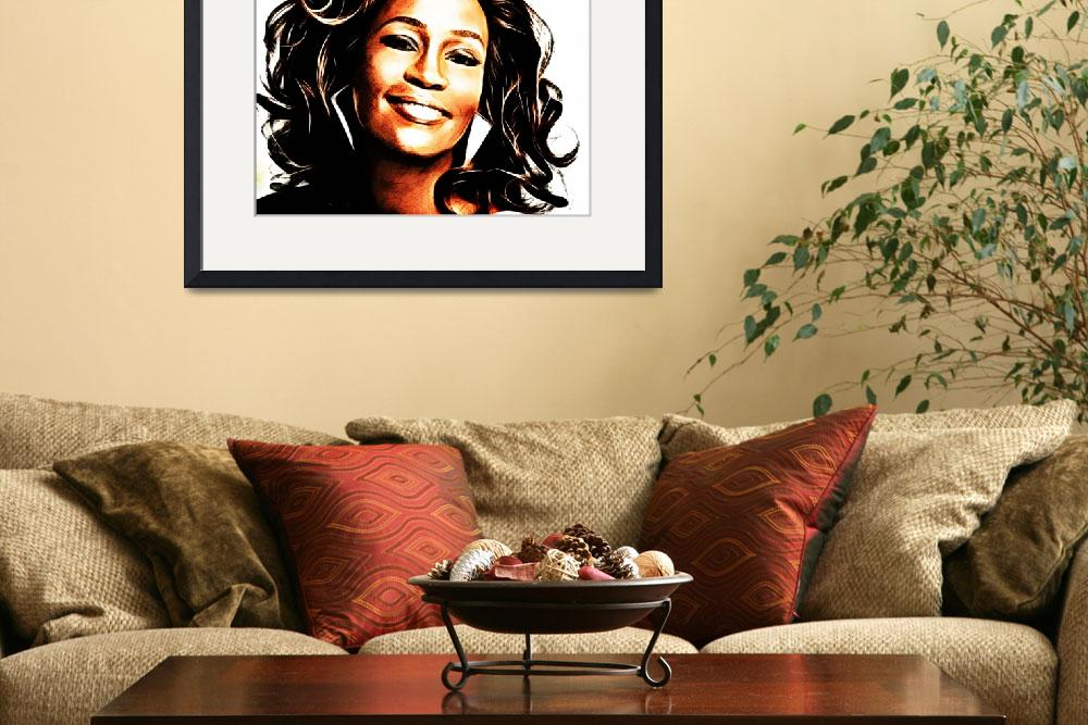 """""""Whitney Houston&quot  (2012) by D77TheDigArtisT"""