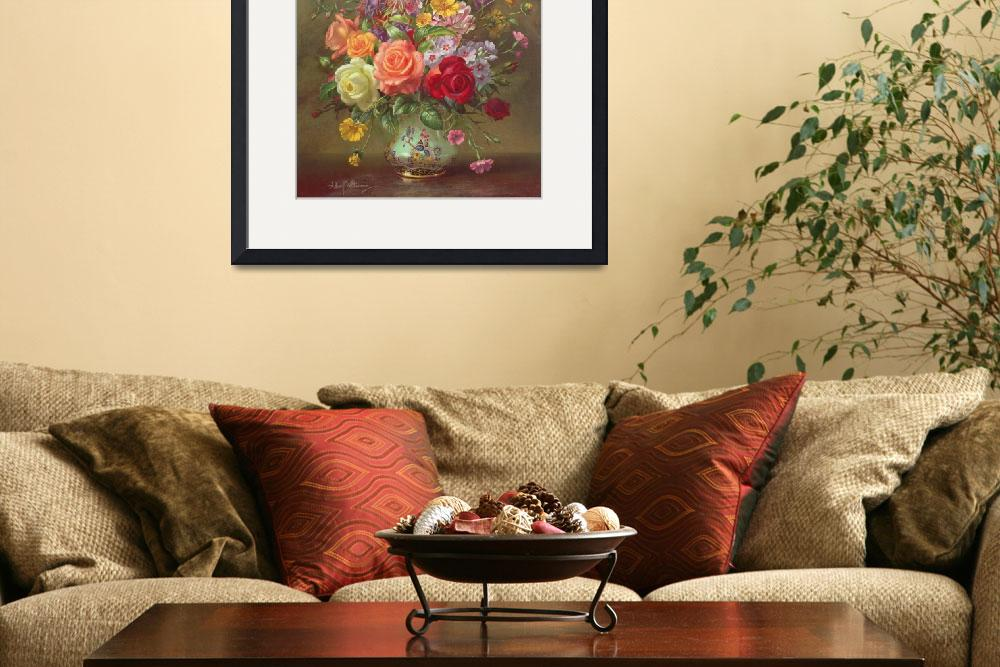 """""""A Summer Floral Arrangement, 1996&quot  by fineartmasters"""