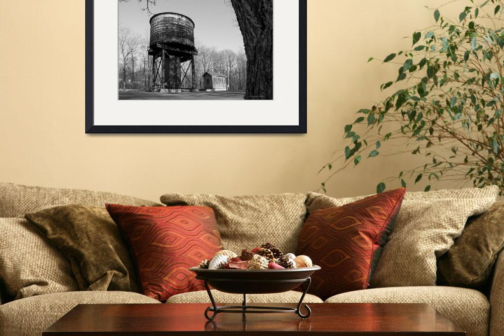 """""""Late Winter Water Tower&quot  (2009) by Llewellyn"""