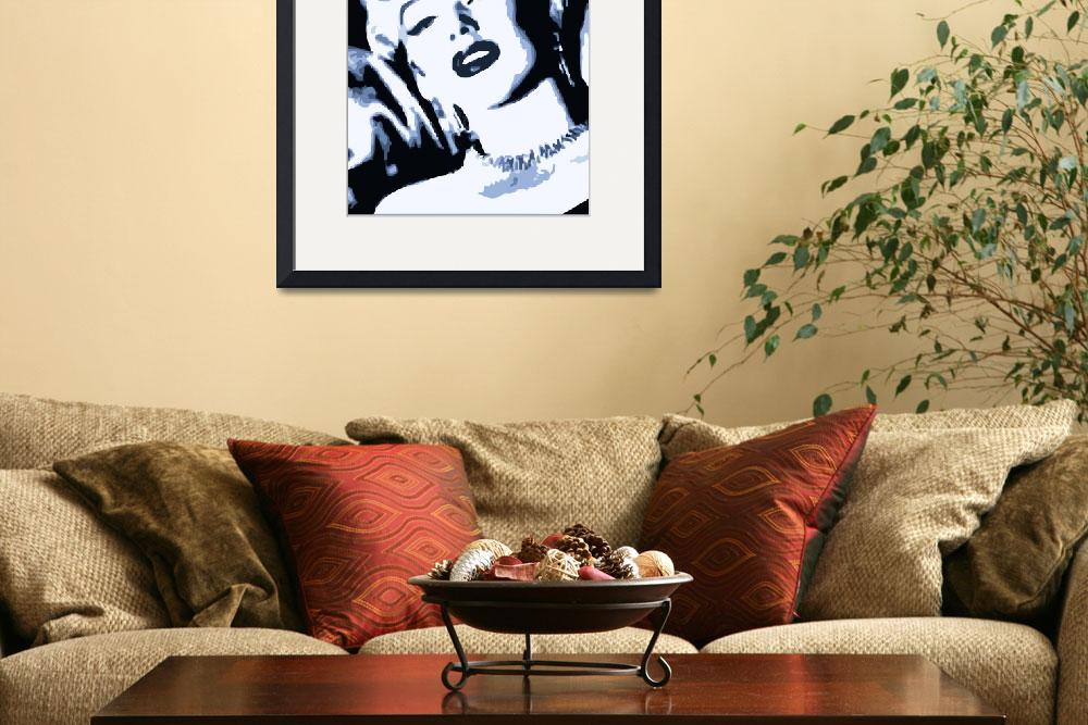 """Marilyn Monroe Tribute&quot  (2010) by whitewallgallery"