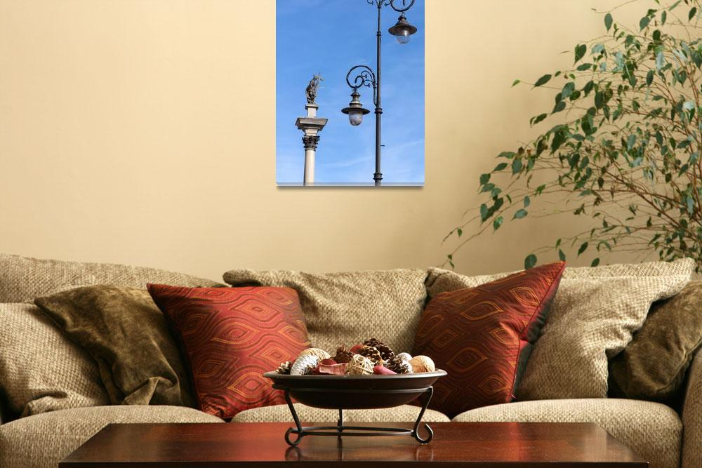 """Street lamp and Zygmunt III Vasa.&quot  by FernandoBarozza"