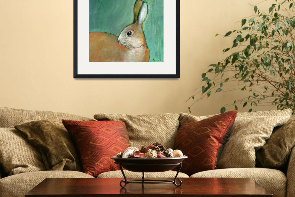 """Portrait of a Nut Brown Hare&quot  (2014) by JENLO"