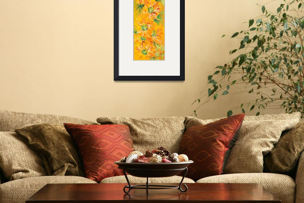 """""""Textured Yellow Sunflowers&quot  (2008) by nadinerippelmeyer"""