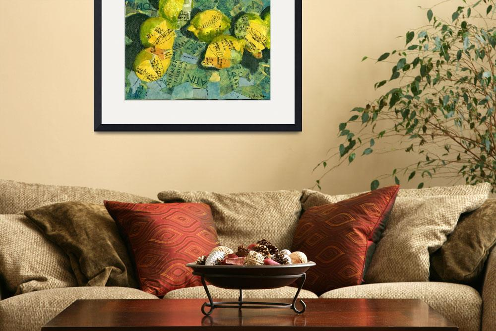 """Luscious Lemons, Abstract Art Piano Sheet Music Co""  by schulmanart"