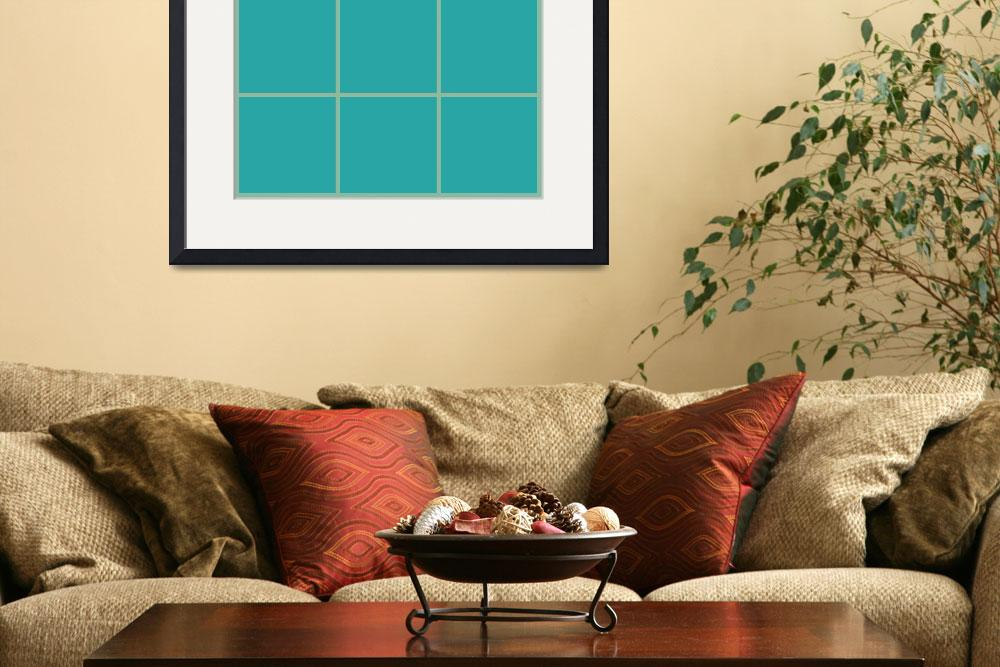 """""""Blue Window 100 Canvas Contemporary Modern&quot  (2010) by Ricardos"""