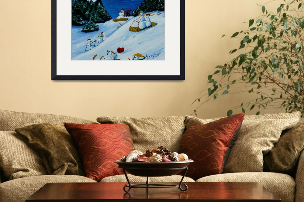 """""""Snowmans Winter Sports""""  (2010) by anthonydunphy"""