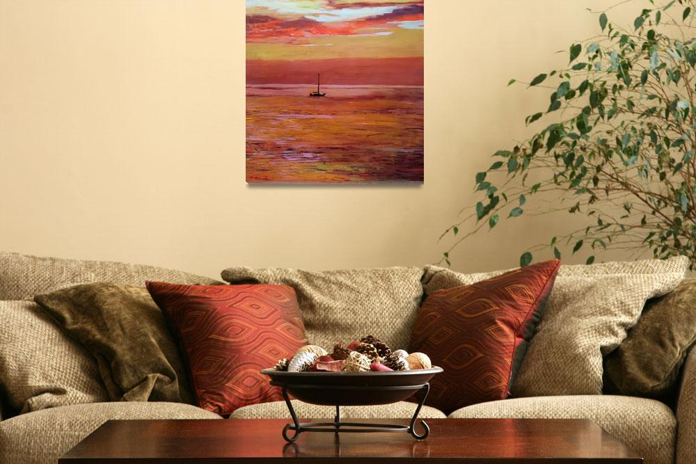 """""""Reflections of the Day Pink Sunset&quot  (2014) by RDRiccoboni"""
