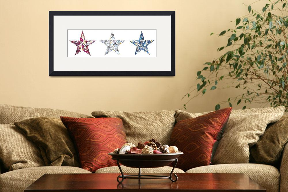 """""""Whimsical Red White and Blue&quot  by createdcreating"""