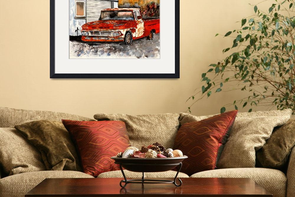 """""""Old Truck Antique Vintage Chevy Painting&quot  (2010) by derekmccrea"""