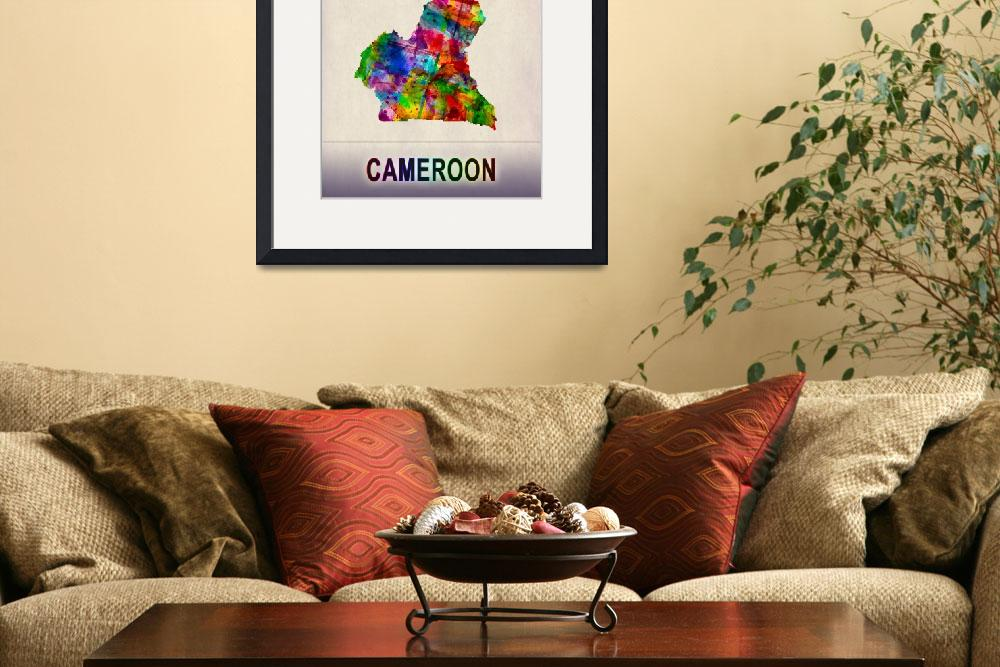 """""""Cameroon Map""""  by Towseef"""