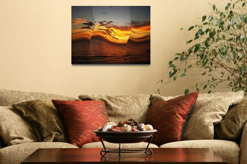 """""""red sunset no. 35 – the dancing daylights""""  (2010) by sunsetcolors"""