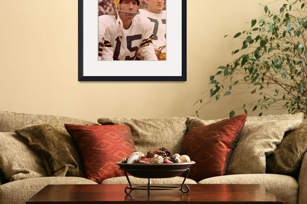 """""""Bart Starr watches from the sideline&quot  by RetroImagesArchive"""
