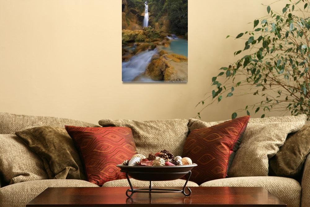 """Scenic Waterfall, Luang Prabang, Laos""  by DesignPics"