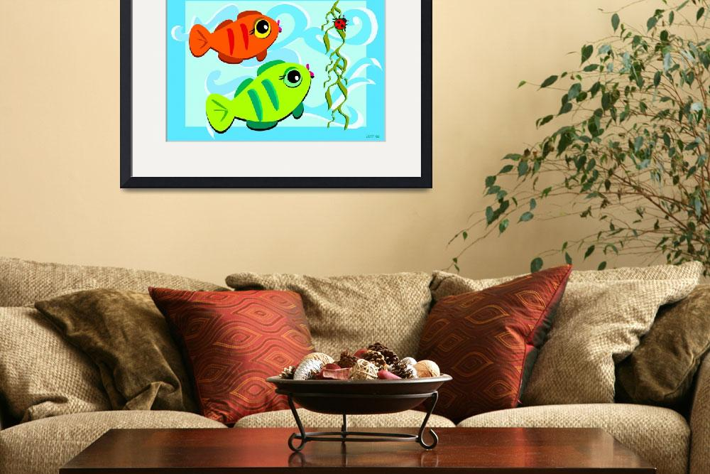 """""""Curious Fish Observing a Ladybug&quot  (2011) by theblueplanet"""