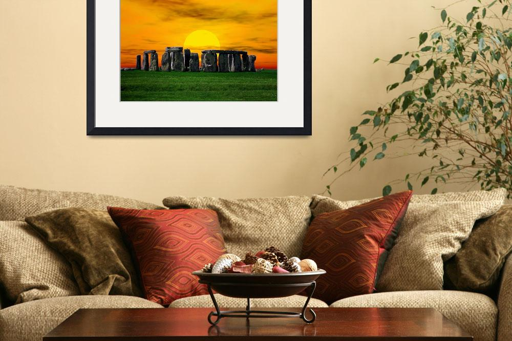 """""""Stonehenge at Sunset&quot  by Gregory"""
