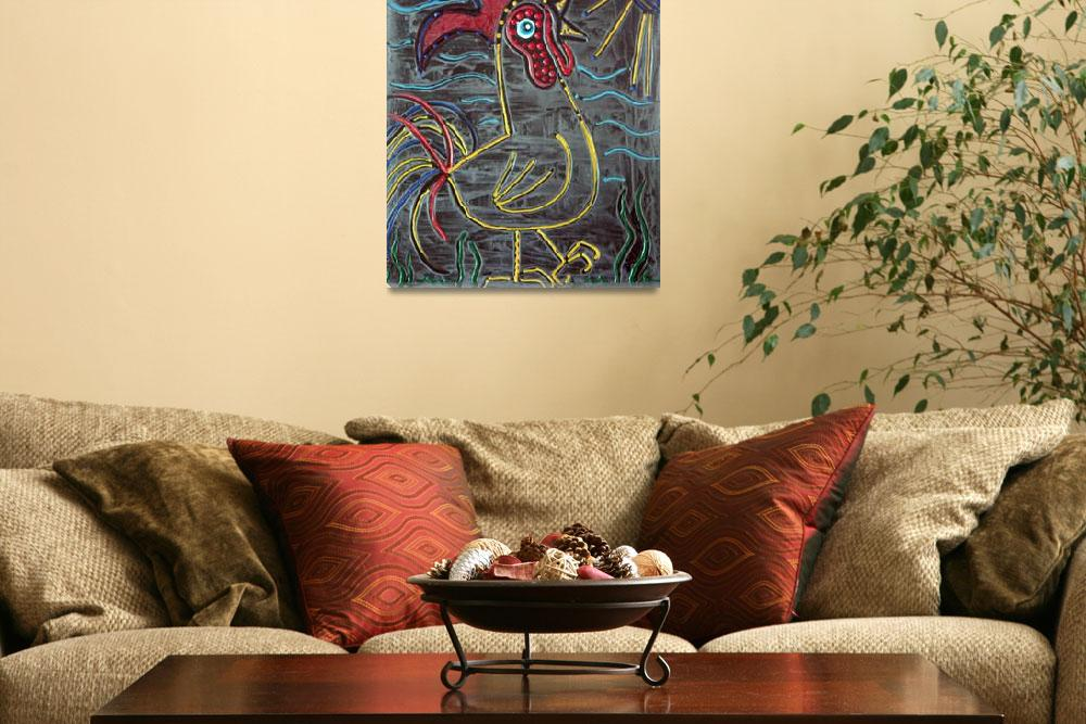 """""""Rooster&quot  (2015) by ArtPrints"""