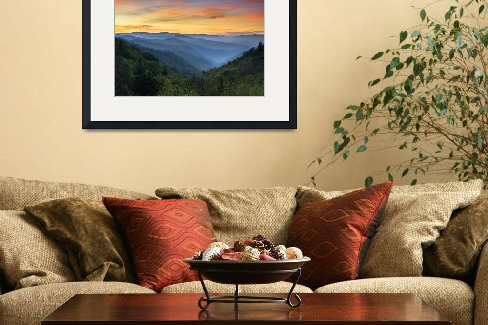 """""""Smoky Mountains Sunrise - Great Smoky Mountains Na&quot  (2012) by DAPhoto"""
