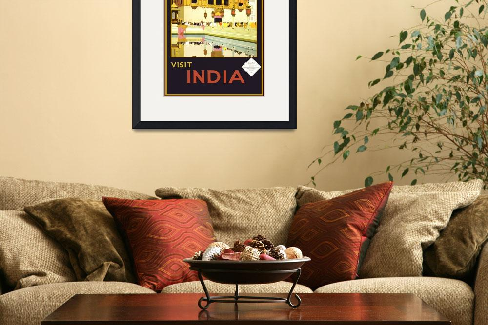 """""""India Travel poster&quot  by shanmaree"""