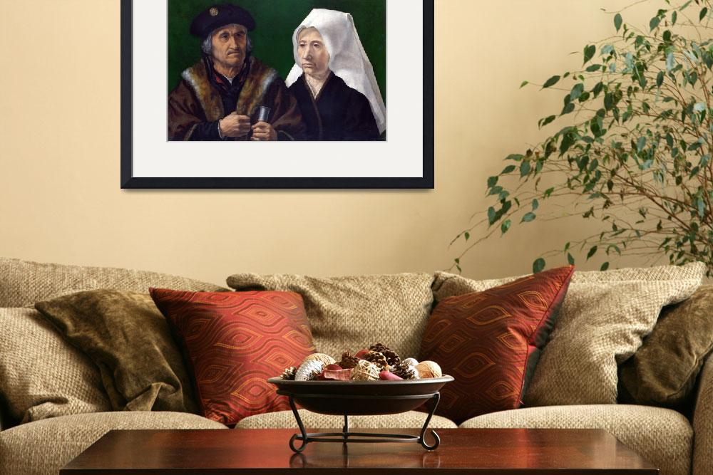 """GOSSAERT, Jan (called Mabuse) - An Elderly Couple""  by ArtistiquePrints"