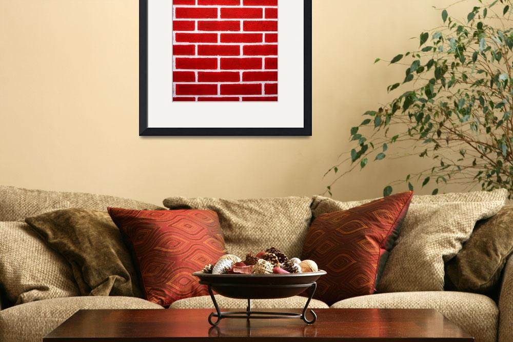 """Red Brick Wall&quot  (2014) by rhamm"