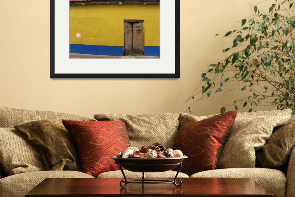 """""""Red Yellow Blue Mexican Wall&quot  (2010) by orincassill"""