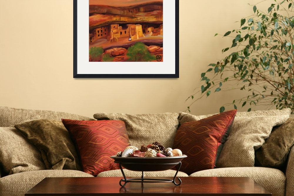 """""""Cliff Palace at Mesa Verde&quot  (2011) by widdart"""