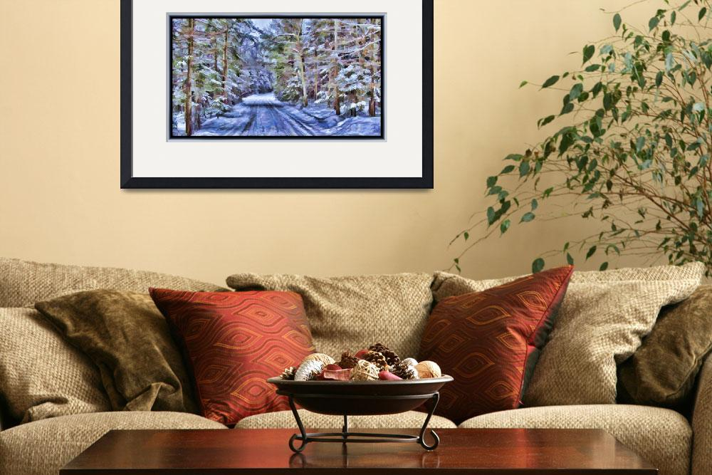 """""""A Secluded Country Lane in a Magical Mystic Woods&quot  by Chantal"""