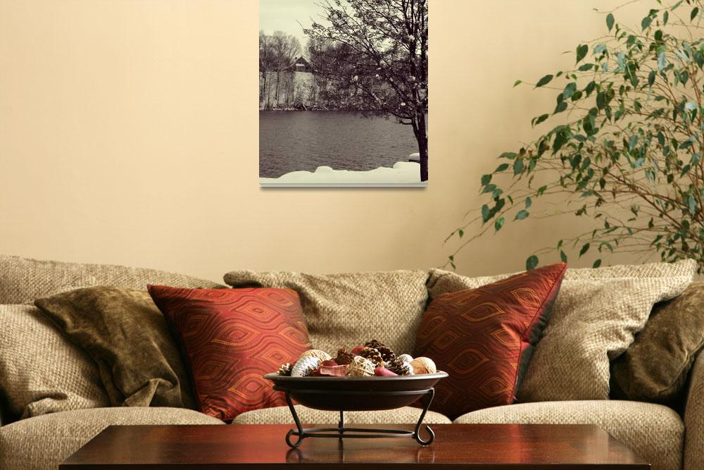 """""""The Tree, The Oswego River, and the House&quot  (2008) by EvanDuffey"""