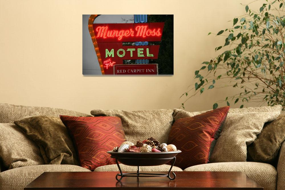 """""""Route 66 - Munger Moss Motel 2008""""  (2008) by Ffooter"""