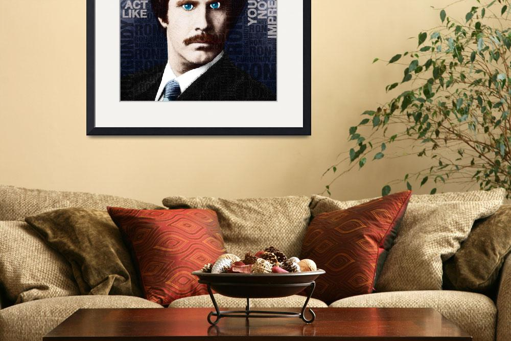 """""""Will Ferrell Anchorman The Legend of Ron Burgundy&quot  (2014) by RubinoFineArt"""