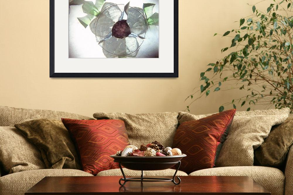 """""""Abstract on a Dogwood Flower&quot  (2011) by marshacarson"""