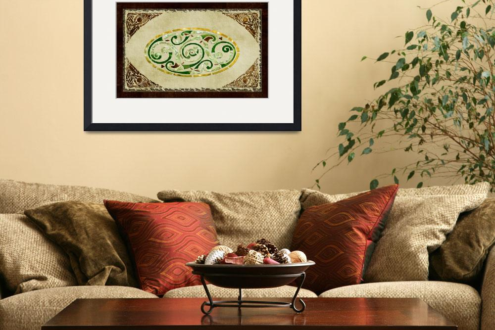 """""""Celtic Old Traditional Tapestry Folk Motif&quot  (2012) by ReneeLozenGraphics"""