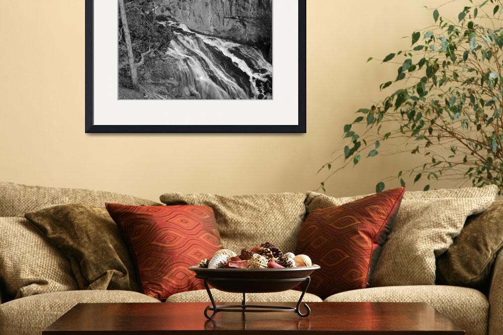 """""""Gibbon Falls at Yellowstone&quot  by North22Gallery"""