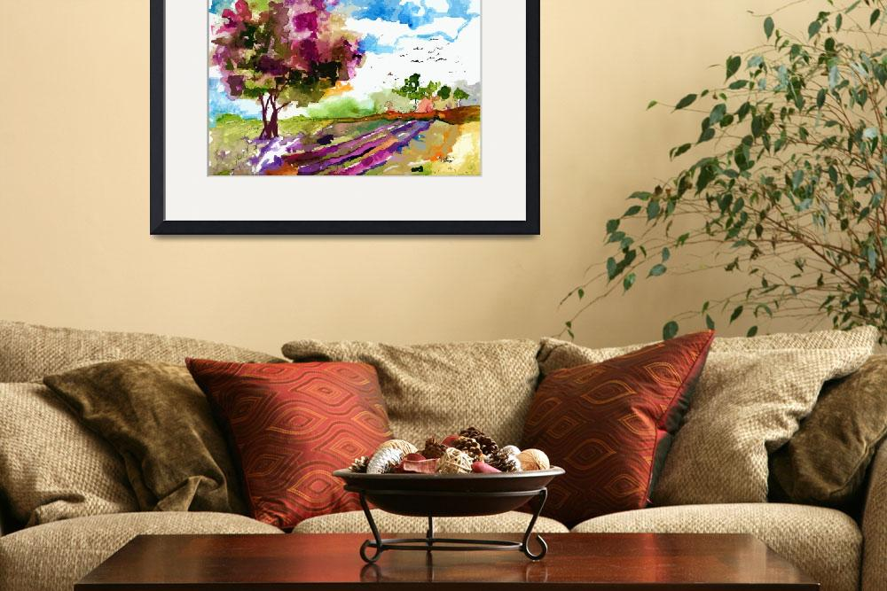 """""""PinkTree and Lavender Fields&quot  (2014) by GinetteCallaway"""