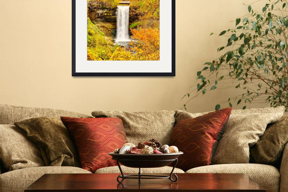 """Fall Colors at the Falls&quot  (2014) by GregLundgrenPhotography"