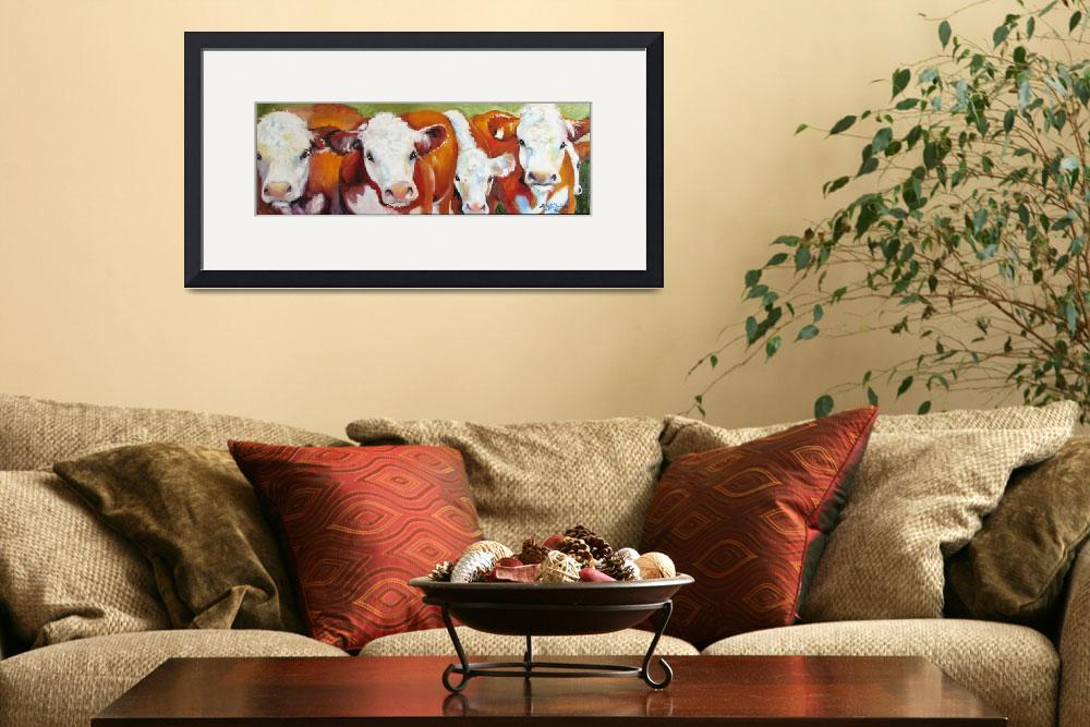 """FAB FIVE COWS&quot  (2009) by MBaldwinFineArt2006"