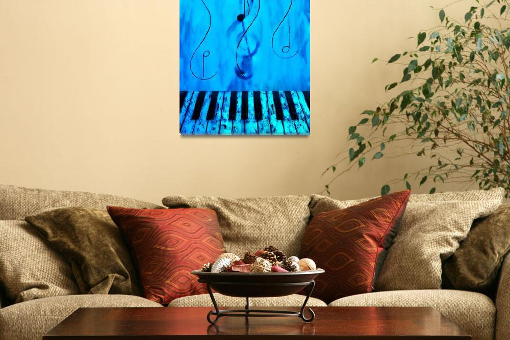 """Piano Play Blue&quot  by waynecantrell"