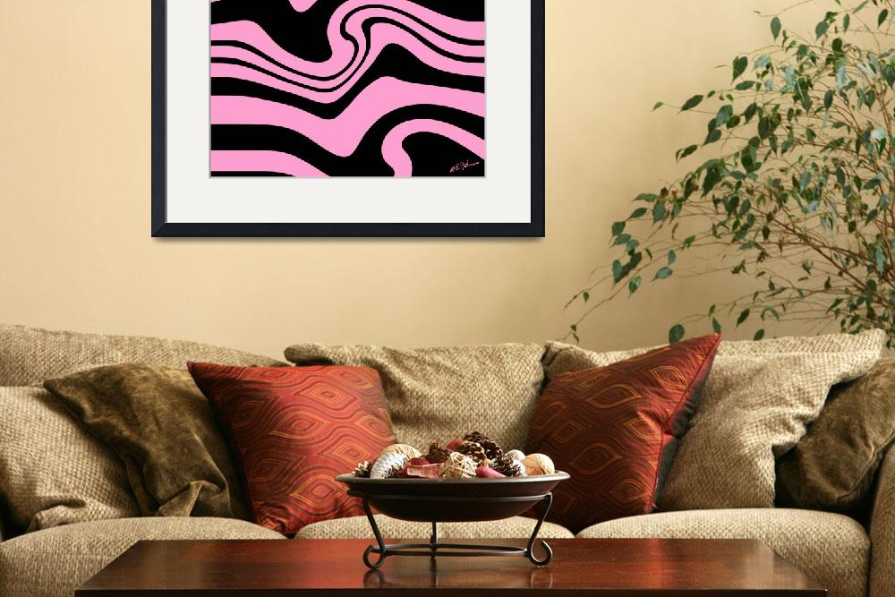 """""""Pink And Black Stripes Zebra in the Spring&quot  (2017) by KatHarris"""