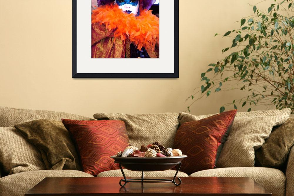 """""""Orange Feathered Collar&quot  (2006) by DonnaCorless"""