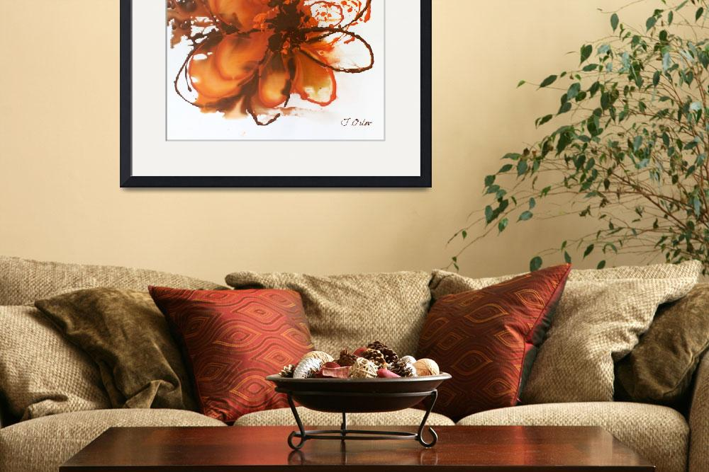 """""""Orange abstract""""  by Aneri"""