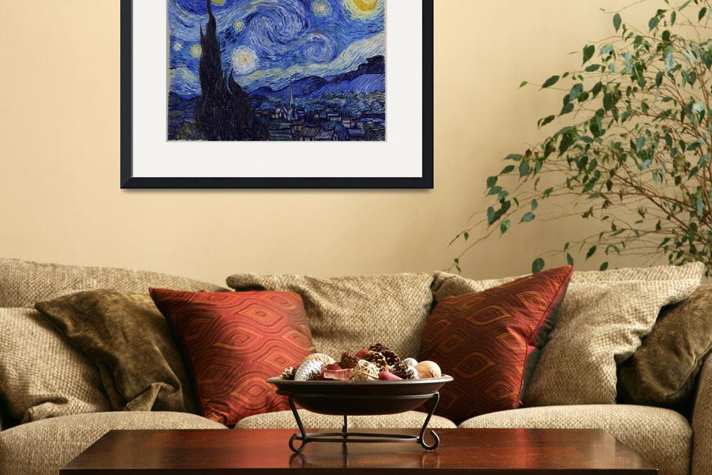 """""""Vincent Van Gogh Starry Night&quot  by fineartgallery"""