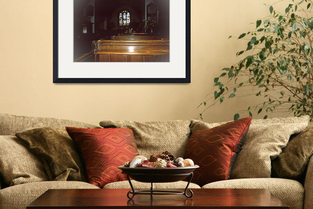 """""""Interior, the Church of St. Andrew&quot  (2012) by PriscillaTurner"""