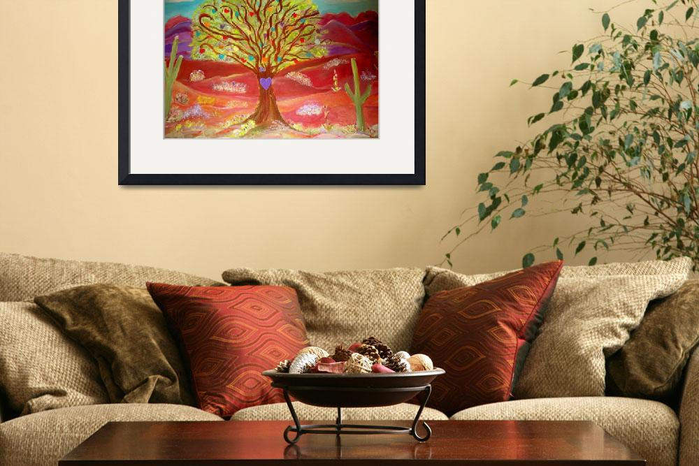 """Sonoran Tree of Hearts&quot  (2011) by debbiepaints"