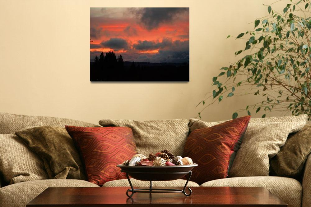 """Almost There- Unreal glow Sunset""  (2007) by inkandbrushcreations"